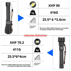 【New upgrade】XHP90.2 TACTICAL FLASHLIGHT-Free Shipping