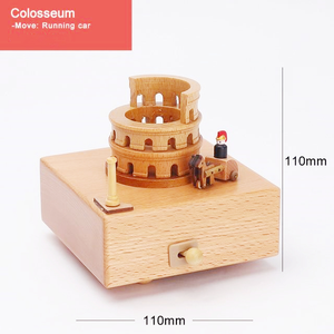 Handmade Wooden Rotating Music Boxes-FREE SHIPPING