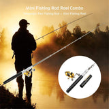 Pocket Telescopic Fishing Rod With Fishing Reel