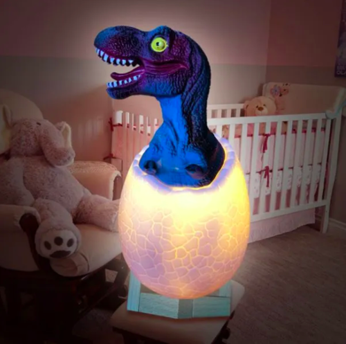 3D Dinosaur Night Light for Kids 16 Color Lamp