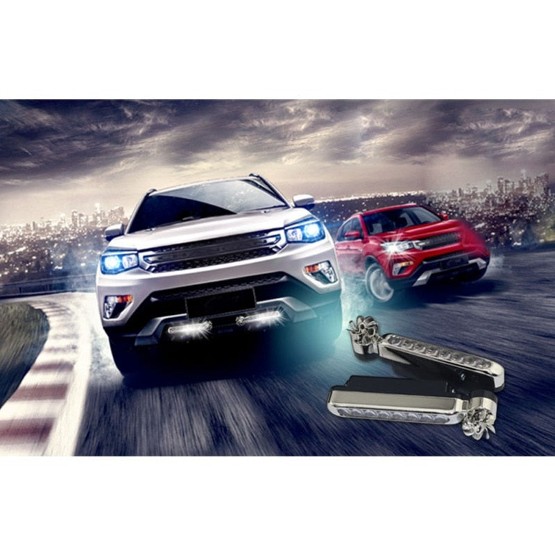 2Pcs Wind Energy Car Running Lights No Need External Power Supply