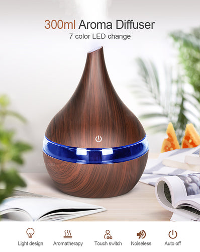USB Aroma Ultrasonic Cool Mist Humidifier 7 Color Change