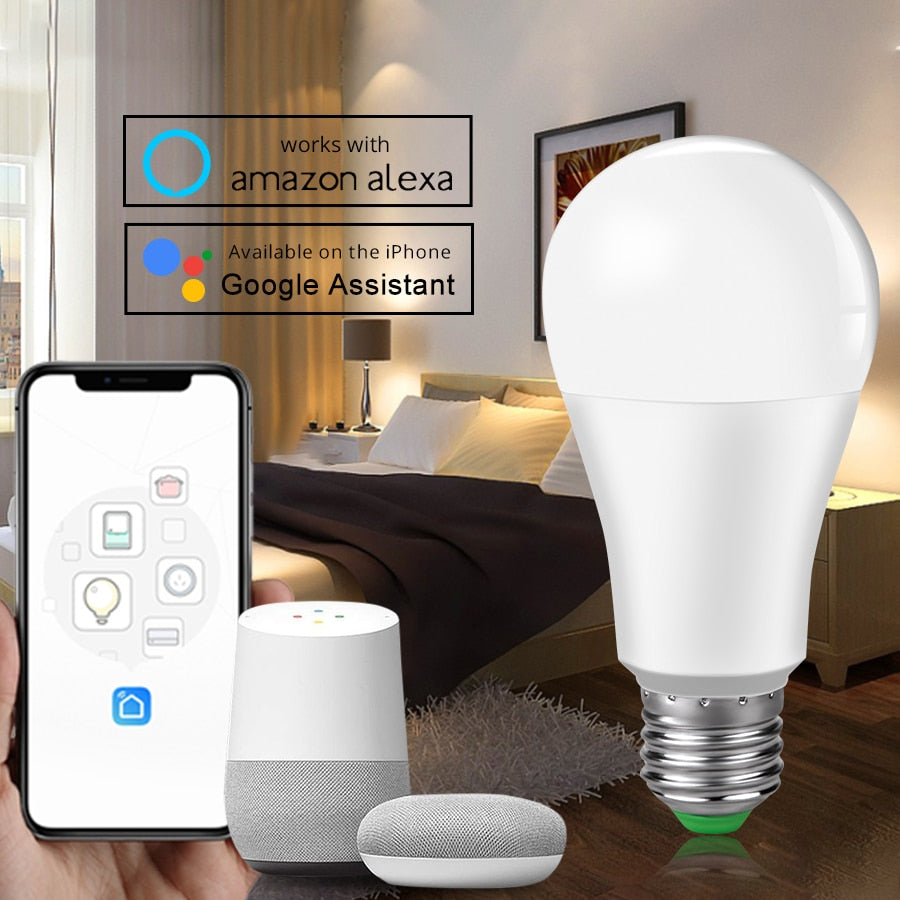 Smart LED Bulb Work with Alexa Google Assistant