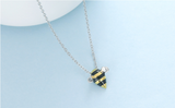 BEE INSPIRED SILVER & GOLD BUMBLEBEE NECKLACE