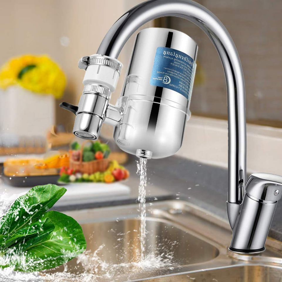 Water Faucet Filtration System with Filter Change Reminder,BPA FREE