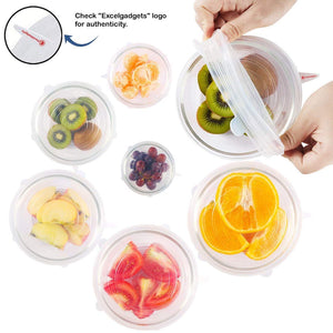 6Pcs/Set  Food Fresh Fruit Silicone Covers