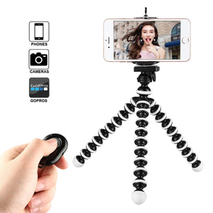 Octopus Mini Tripod Stand Mount For Mobile Phone--WITH REMOTE CONTROL