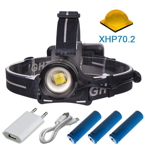 90000 lumens high powerful led headlamp