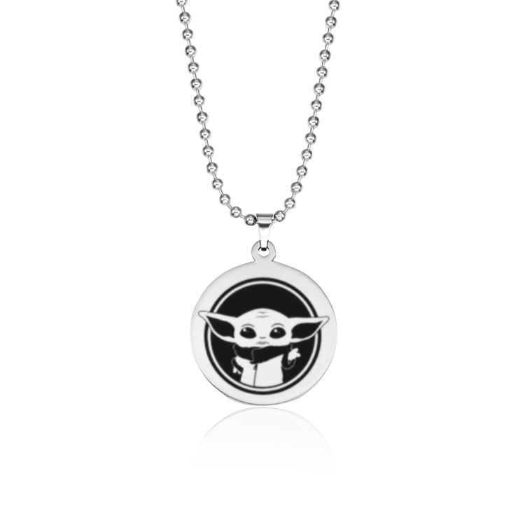 Baby yoda pendant necklace