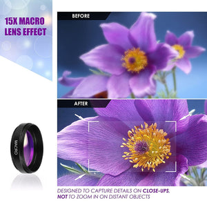Phone Lens kit 0.45x Super Wide Angle & 12.5x Super Macro Lens