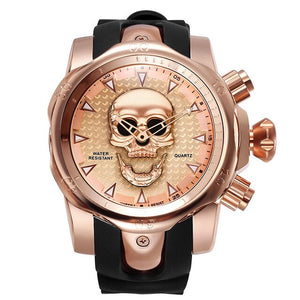 3D Skull Quartz Watch