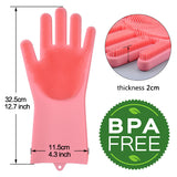 Kitchen Magic  Silicone Cleaning Gloves(BPA Free)