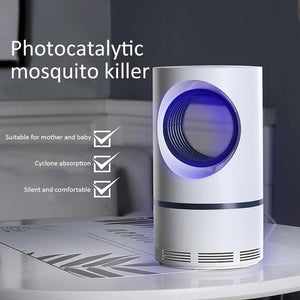 Photocatalytic mosquito destroyer lamp