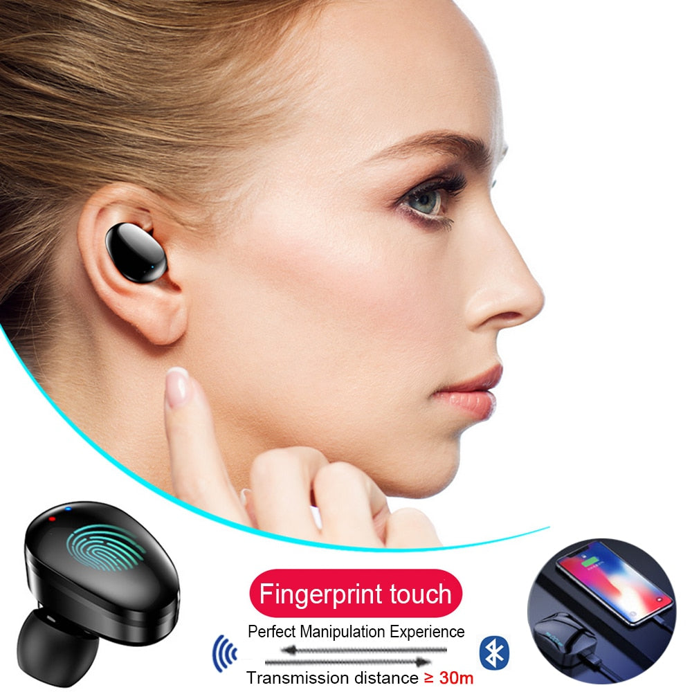 QCR TWS 5.0 Bluetooth Earphone IP7 Wireless Headphone 6D Stereo HiFi Wireless Earbus Gaming Headset with Microphone 2200mAh
