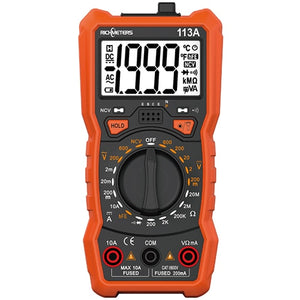 RM113E NCV Digital Multimeter 6000 counts Auto Ranging