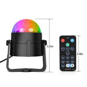 Sound Activated Rotating Disco Ball Party LED Stage Lights