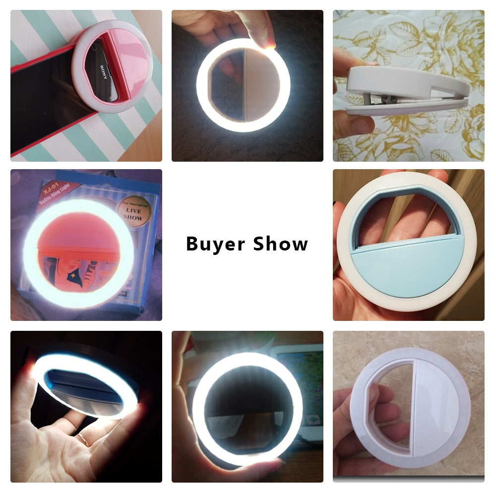 Portable Selfie LED Ring Flash Light