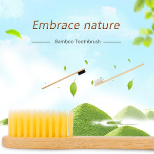 Natural Bamboo Toothbrush Woode 10 Pack