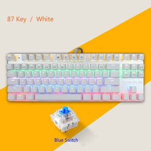 87 Keys Mechanical Keyboard 10 Kinds of Lighting Effects  Gaming Keyboards