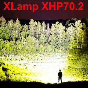 Highest lumens xhp70.2 most powerful flashlight-Free Shipping