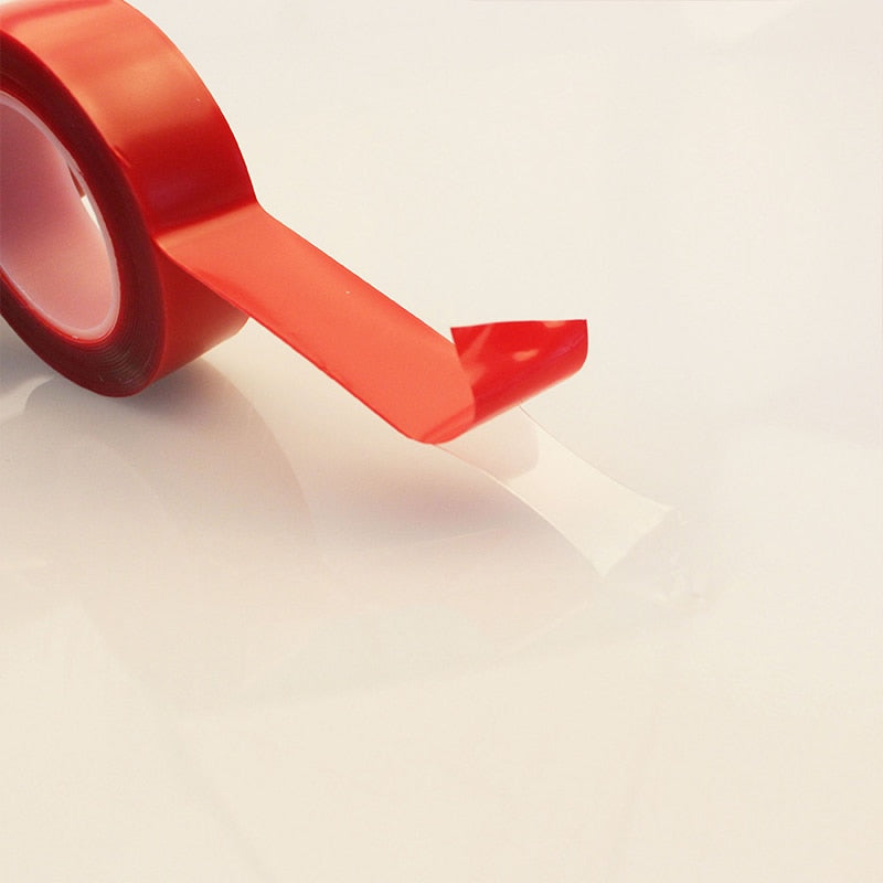 Red Transparent Silicone Double Sided