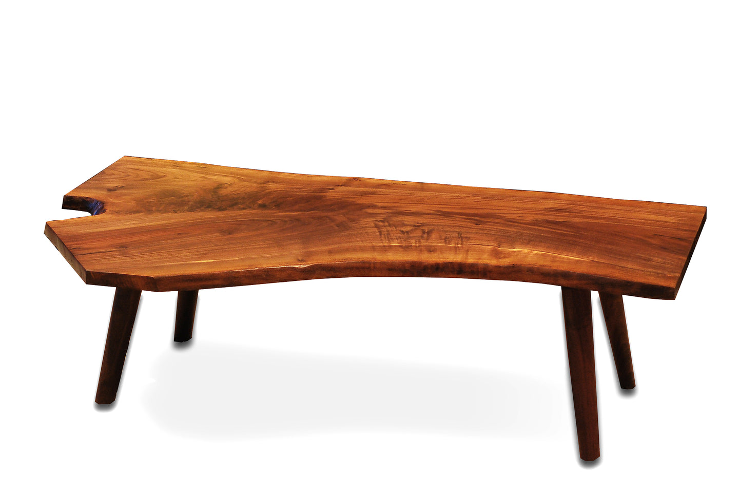Live Edge Coffee Table - Wood legs