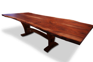 Extension Dining Table -2 Slab Bookmatch