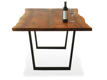 Load image into Gallery viewer, 2 Slab Bookmatch Dining Table - Steel Legs