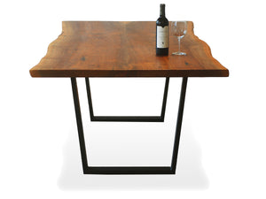 2 Slab Bookmatch Dining Table - Steel Legs