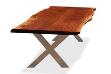 Load image into Gallery viewer, 2 Slab Bookmatch Dining Table - Stainless Steel Legs