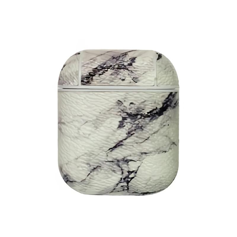 Marble And Light Line PU Leather Protective Case Cover For Apple Airpods