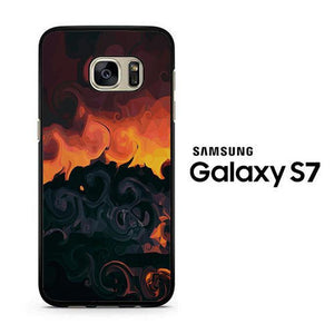 Abstract Sunset Colour Samsung Galaxy S7 Case