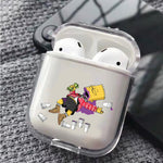 Bart Simpson Drunk Protective Clear Case Cover For Apple Airpods