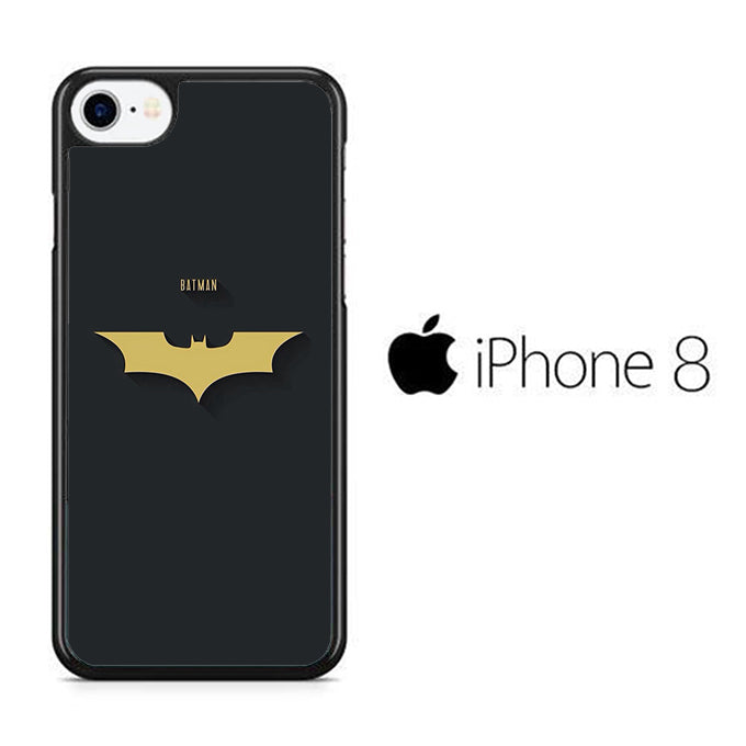 Batman Yellow Logo Simple iPhone 8 Case