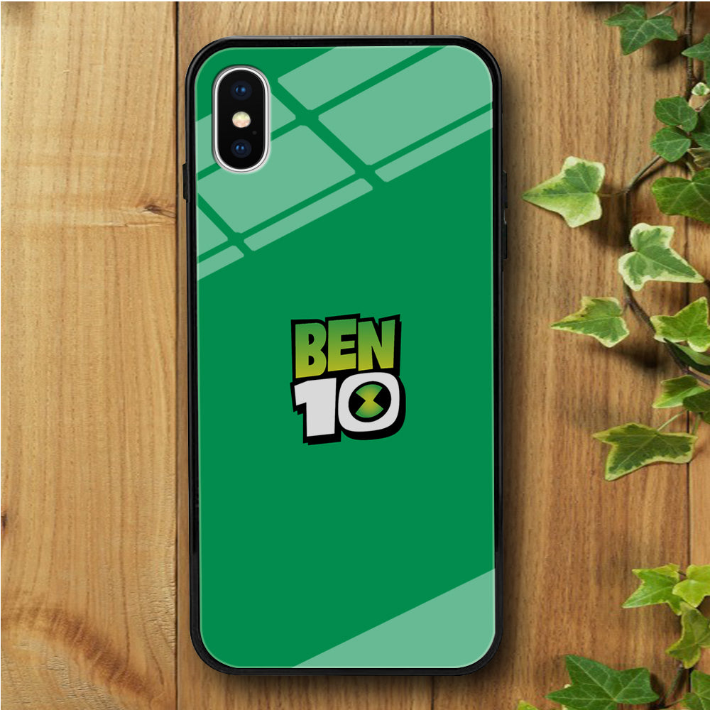 Ben 10 Logo Simple iPhone X Tempered Glass Case