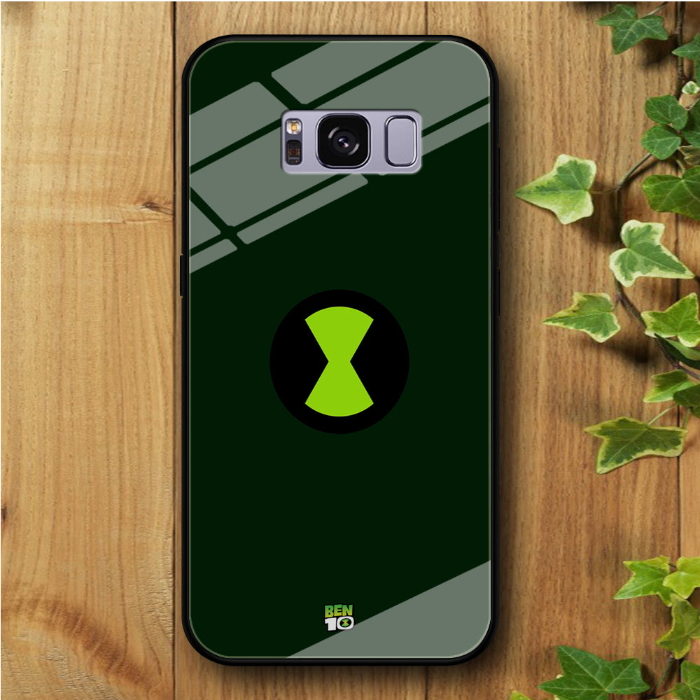Ben 10 Omnitrix Green Samsung Galaxy S8 Plus Tempered Glass Case