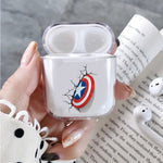 Captain America's Shield 3D Protective Clear Case Cover For Apple Airpods