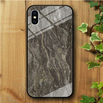 Ceramics Chocolate iPhone Xs Max Tempered Glass Case