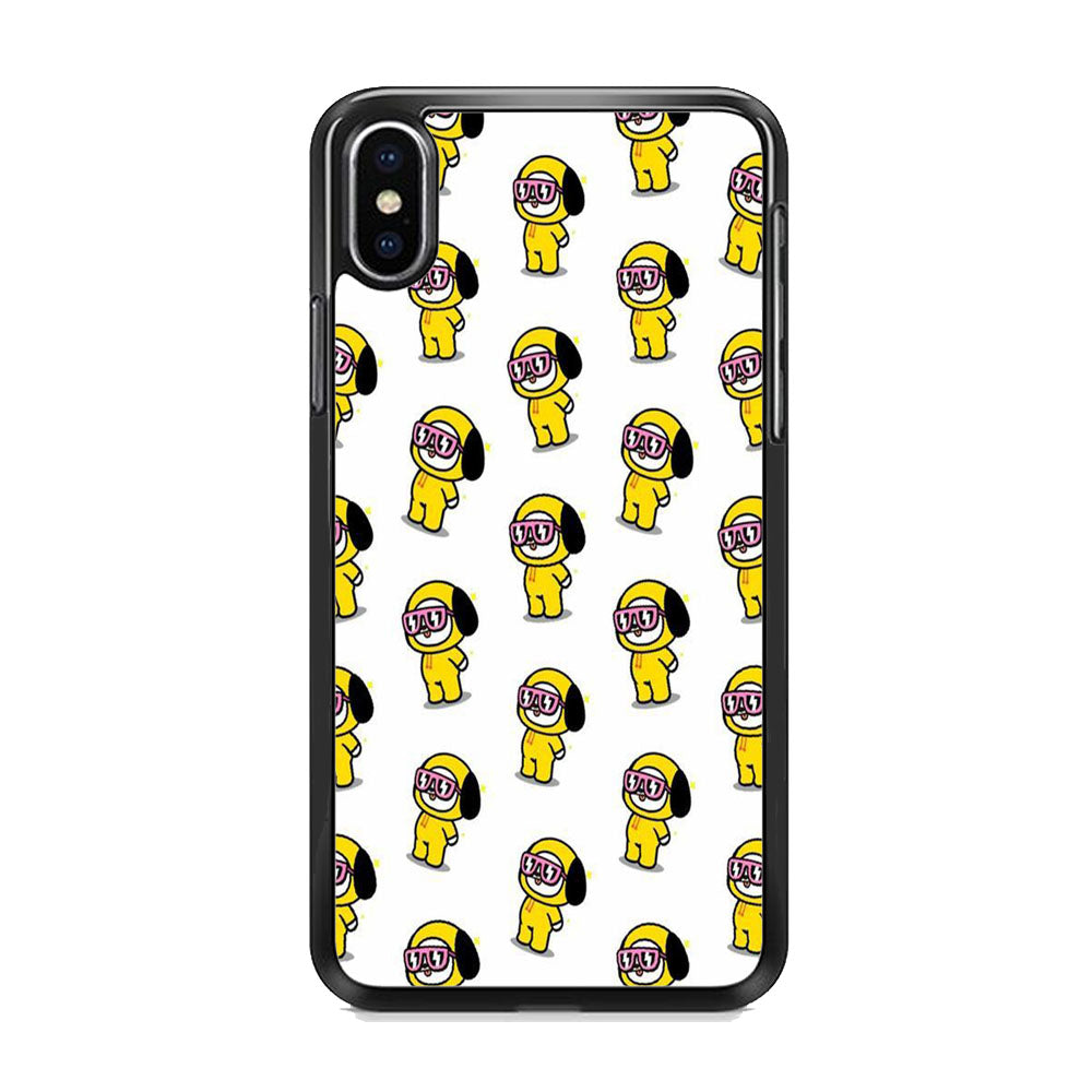 Chimmy White Glassess iPhone Xs Max Case