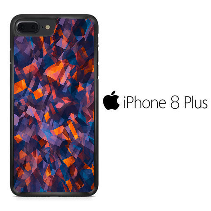 Colour Blue Orange iPhone 8 Plus Case