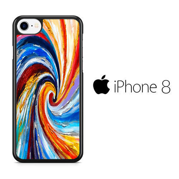 Colour Paint Hole iPhone 8 Case - ezzystore - Phone Case
