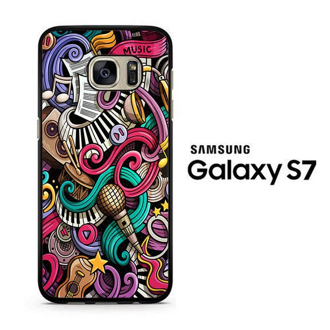 Doodle Music 001 Samsung Galaxy S7 Case - ezzystore - Phone Case