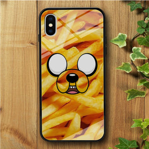 Finn And Jake Potatoes iPhone X Tempered Glass Case
