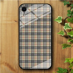 Flannel Cream Cube iPhone XR Tempered Glass Case
