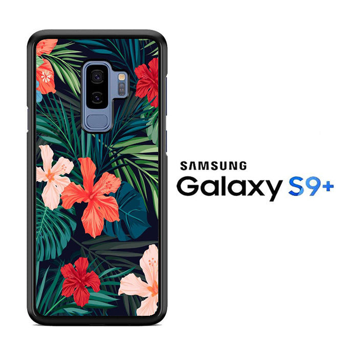 Flowers Mix Leaf Samsung Galaxy S9 Plus Case