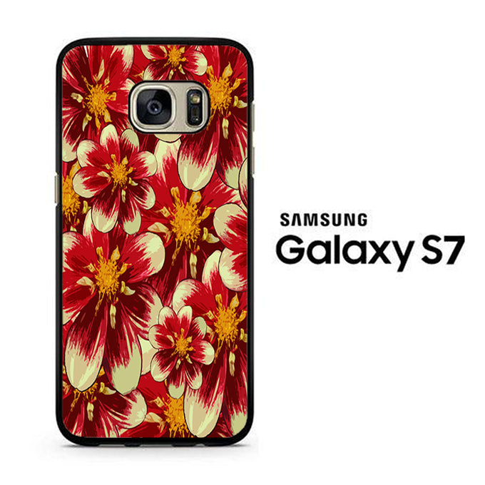 Flowers Red Mix Samsung Galaxy S7 Case - ezzystore - Phone Case
