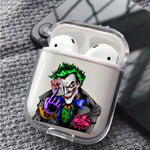 Joker Smile Poker Face Protective Clear Case Cover For Apple Airpods