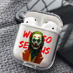 Joker Why So Serious Protective Clear Case Cover For Apple Airpods