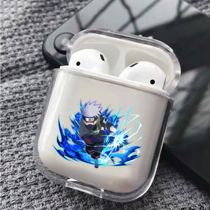 Kakashi Chidori Mangekyou Protective Clear Case Cover For Apple Airpods