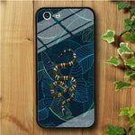 Leaf Night Gold Snake iPhone 5 | 5s | SE Tempered Glass Case
